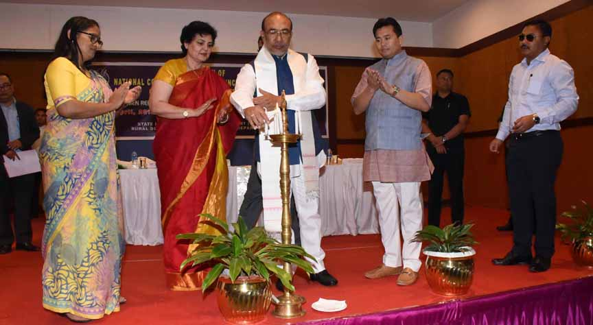 Manipur Chief Minister N Biren Singh inaugurating a Capacity Building Programme for elected women representatives of Panchayati Raj Institutions in Imphal on Monday.