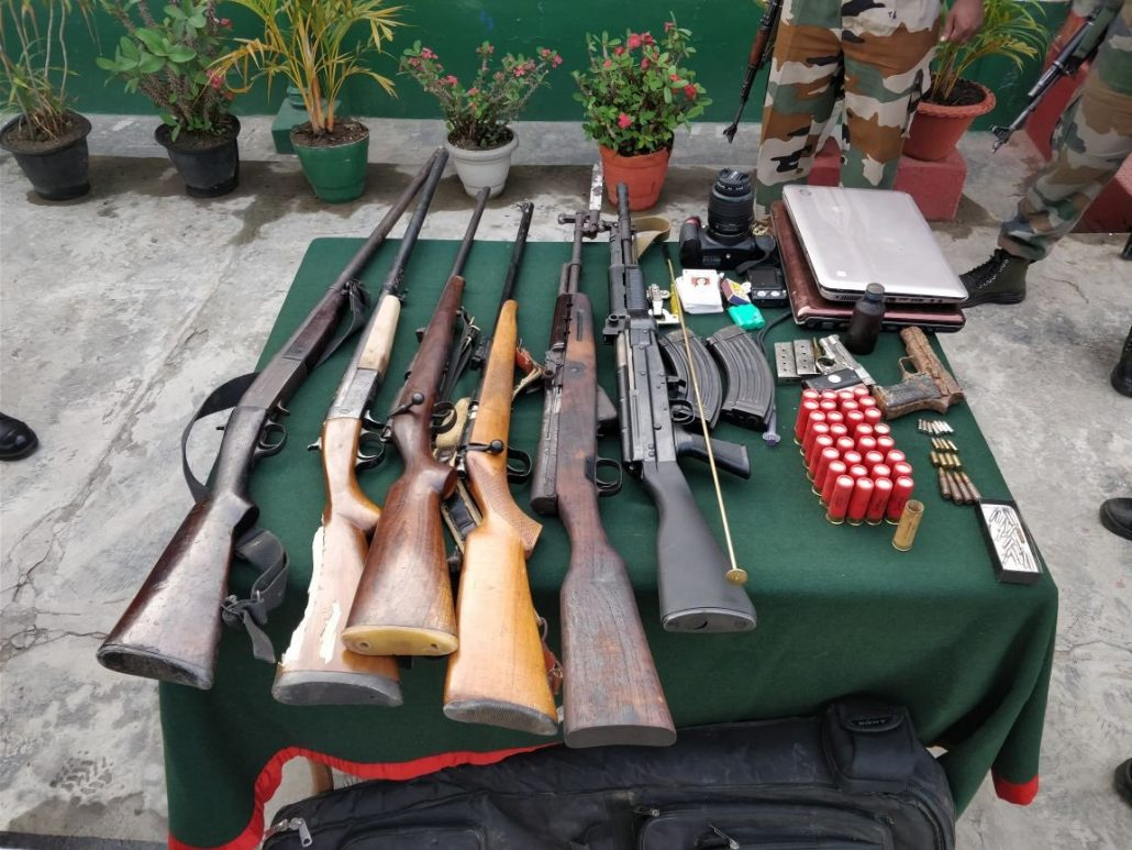 Arms and ammunition recovered by Dimapur Battalion of Assam Rifles. Source - Twitter Representative image