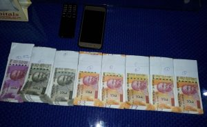 The fake currency notes seized by Dibrugarh Police.