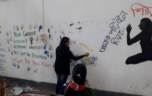 Protest in a different way: Now, graffiti mars walls of Assam Women's University at Jorhat 2