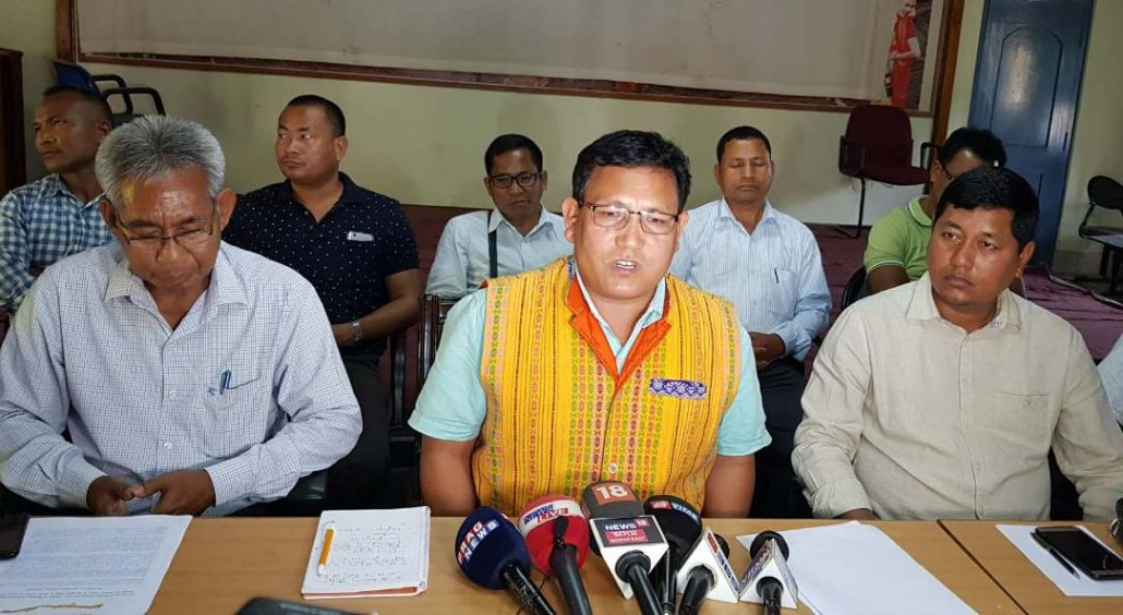 NFNS joint secretary Pramod Boro speaking to media. (file image)