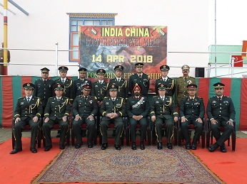 Border Personnel Meeting between Indian Army and Chinese People's Liberation Army troops (File Image)