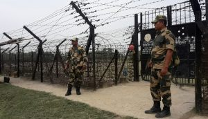 A view of the Indo-Bangla border gate in North Tripura.