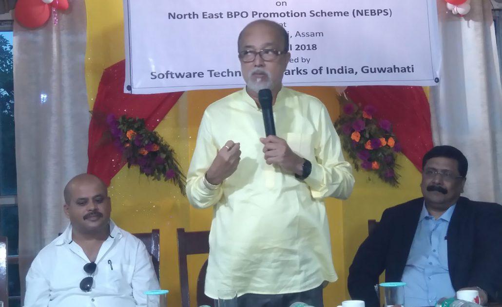MP, Mangaldai, Ramen Deka addressing a workshop. Northeast Now