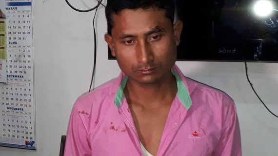 Arrested accused, Rajib Buragohain, a resident of Chapakhowa, Sadiya in Tinsukia district.
