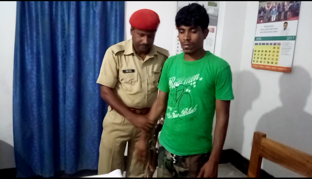Noor Mohammad, who was arrested by police at Hatsingimari.