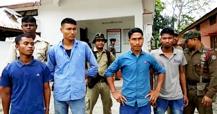 The four apprehended NDFB(S) cadres. Northeast Now