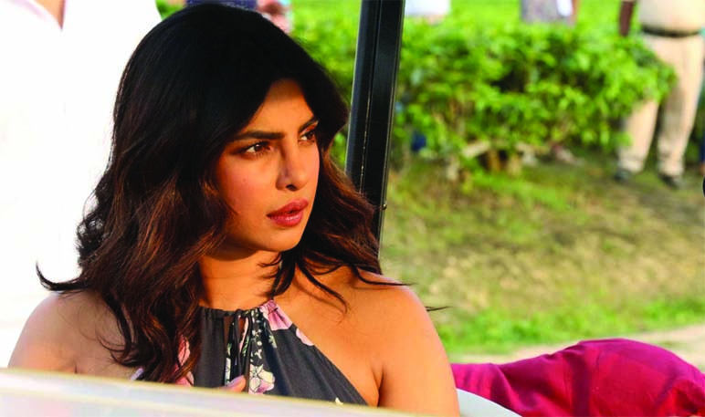 File photo of Bollywood actress Priyanka Chopra during video shoot for the tourism promotion in Jorhat. UB Photos