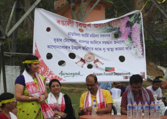 Purnima Devi Barman urges women to weave stork motif on gamosas for Rongali Bihu 1