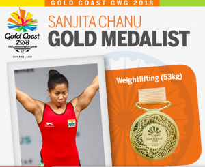 Manipuri weightlifter Sanjita Chanu bags second gold for India at CWG 2018 1