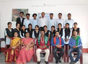 Tangla College English Department organizes farewell to students 1