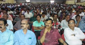 A section of the participants in the TRKS conference at Dharmanagar.