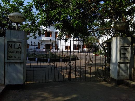 MLA hostel in Tripura where former minister and MLA Bijita Nath was grilled by CBI on Wednesday. Photo: Pinaki Das