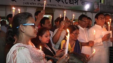 Tripura cong protest