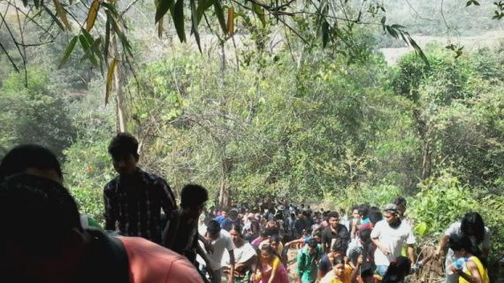 Hill trekking on the occasion of Baukhungri Festival. File photol