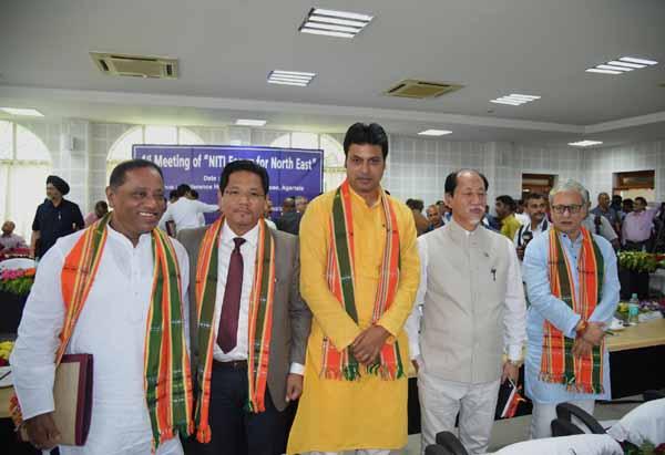 NITI Forum meet in Agartala: NE CMs make suggestions on areas of development 1