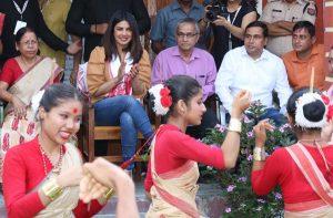 Priyanka Chopra shows off her Bihu dancing skills in Jorhat 1