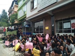 Sikkim University students stage pen down agitation 1