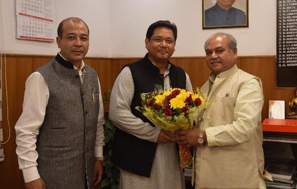 Meghalaya CM meets Union Minister for Rural Development Narendra Singh Tomar 1
