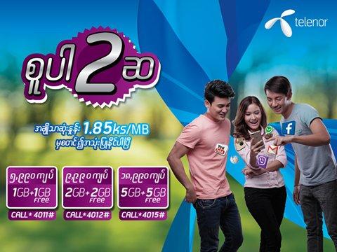 Picture credit: Twitter handle of Telenor Myanmar