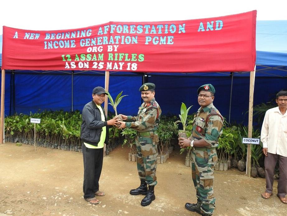 Assam Rifles distributes more than one lakh plants