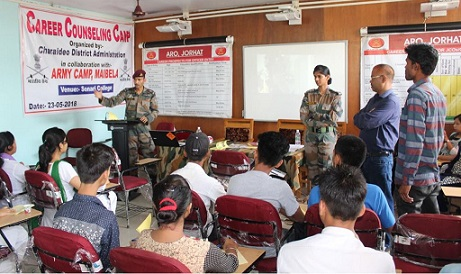 A view of the career counselling and personality development programme at Sonari College. Northeast Now