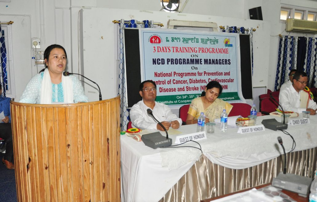 Director NHM Inaugural function of 3 days training programe on NCD programe managers at ICM Lamphel on 24.5.2018 (8)