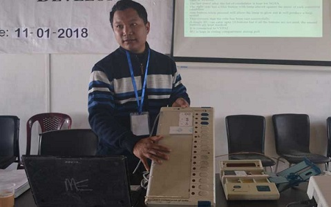 File photo of training for polling personnel. Photo source - Internet