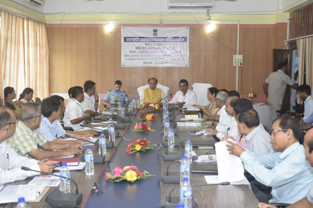 Guv in a review meeting