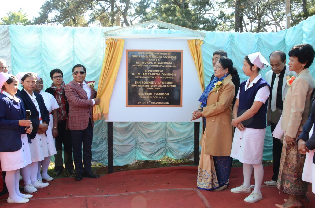 File picture of laying of foundation stone.