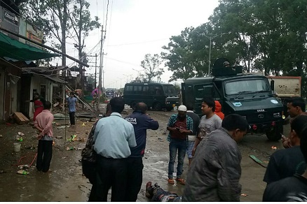 The blast site at Thoubal in Manipur. (File photo)