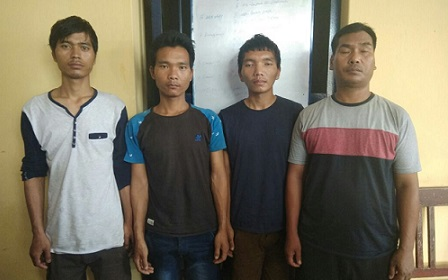 The arrested poachers. Northeast Now