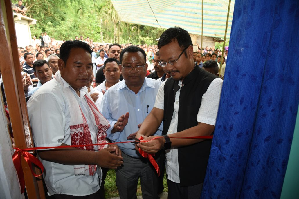 Meghalaya Home Minister James K Sangma on Sunday inaugurating the newly-constructed National People's Party (NPP) office at Latri under Ampati Constituency. Northeast Now