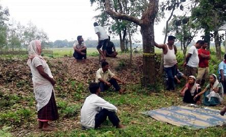 Muga farmers at Dhenukhona . Photo credit Amit Paban Bora