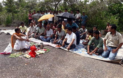 A view of the ''bhumi pujan '' at Rupsi Airport. Northeast Now