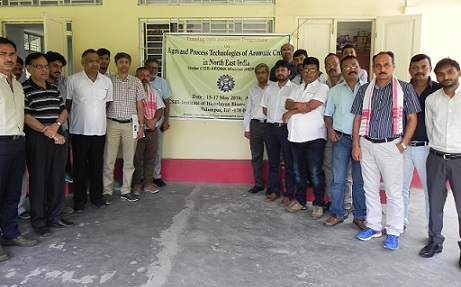The participants in the training-cum-awareness programme at Dibrugarh posing for a photograph. Northeast Now