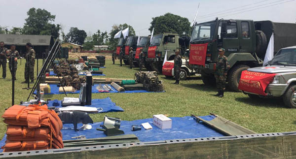 A joint drill in the form of a mock demonstration was conducted in the small township of Dharamtul on the banks of Kopili River on Monday.