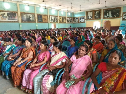 A view of awareness meeting on atrocities against women and girls at Desh Bandhu Vidyapith High School Premises organised by Hojai district administration on May 27, 2018. Photo: Nikhil Mundra