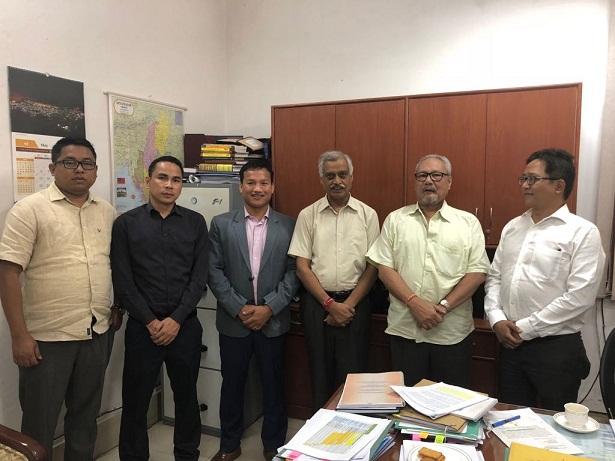 NCHAC CEM Debolal Gorlosa during a meeting with the Jt. Secy (NE) MHA Satyendra Garg in New Delhi on May 16, 2018. Photo: Pankaj Kumar Deb