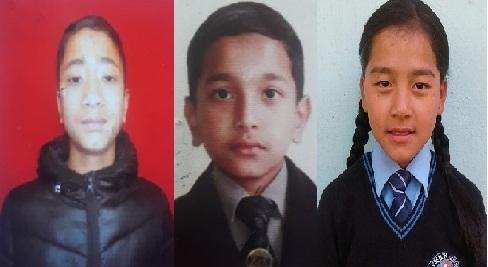 Ashim Chettri (Left),  Nabin Pradhan (Middle) and  Anisha Rai  (Right). Photo: Sagar Chhetri