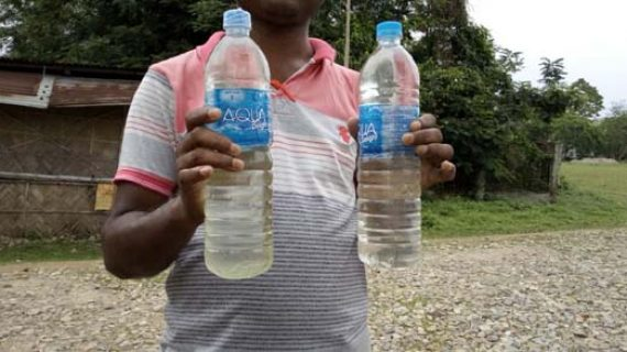 Contaminated packaged drinking water