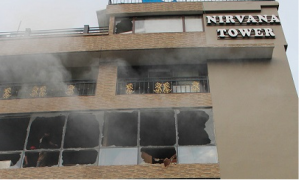 Massive inferno in Guwahati, aged man rescued 5