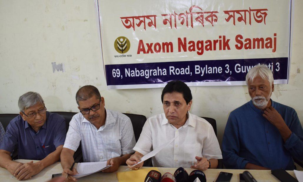 Ajit Bhuyan addressing a press conference at Guwahati Press Club on June 21, 2018.  UB PHOTOS