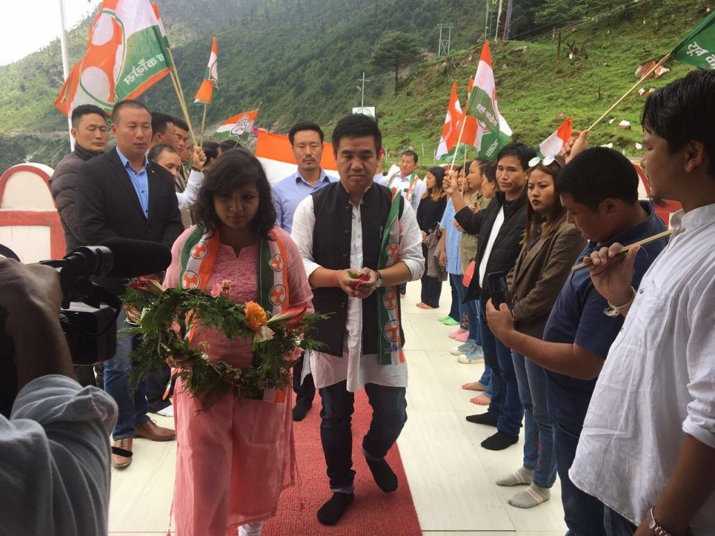 APYC members paying homage to martyrs of Indian Army at Tawang