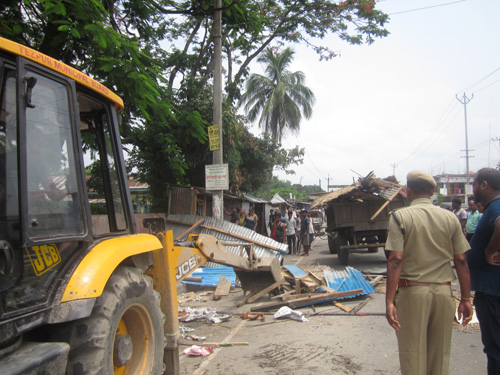 Tezpur Municipal Board evicted illegal shop