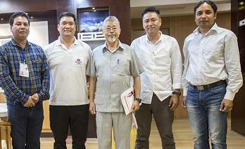 Pema Khandu with IRCS delegation