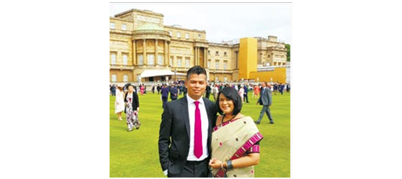 Assamese couple attend royal invitation