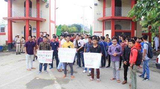 Manipur University protest