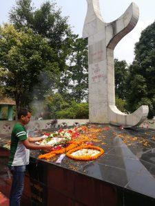 pray at Rabha samadhisthol (samanyakhetra)at tol Kolibari Tezpur