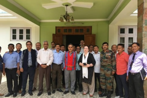Representatives of government of India and NSCN (IM) during a meeting of Ceasefire Ground Rules Review Committee held  at Chumukedima in Nagaland on June 8, 2018. File Photo: Northeast Now